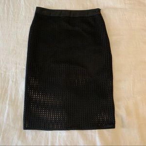 ASTR Black Midi Pencil Skirt